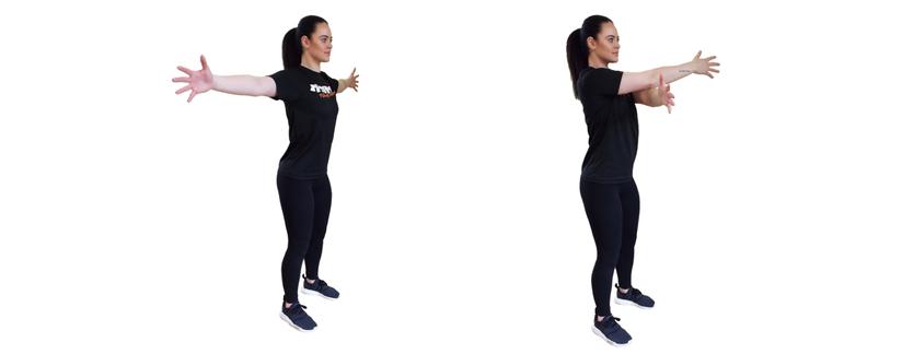 Dynamic pectoral stretch